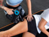 Brug af massagepistol